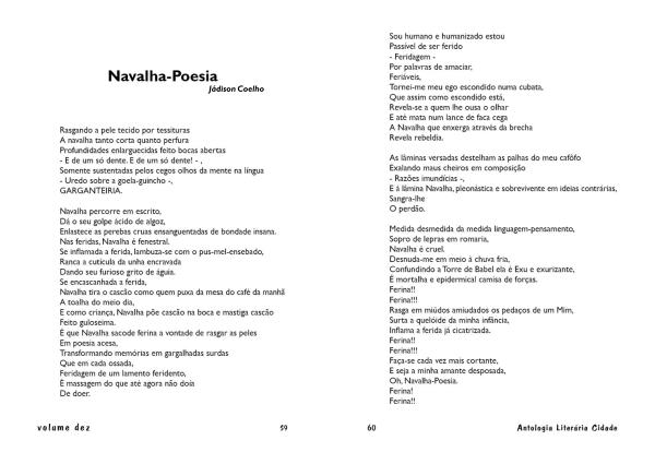 navalha poesia